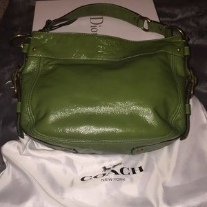 Kelley green leather purse by Coach